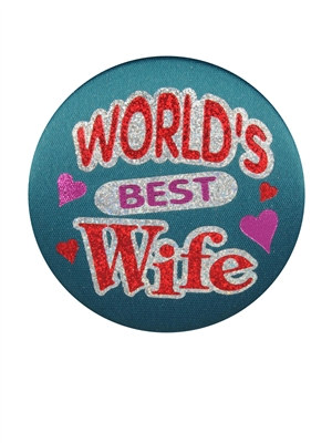 World's Best Wife Satin Button