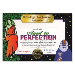 aged to perfection certificate award