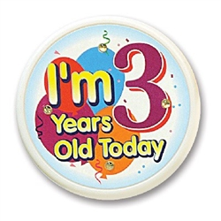 Im 3 Years Old Today Flashing Button