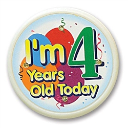 Im 4 Years Old Today Flashing Button