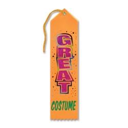 great costume halloween award ribbon