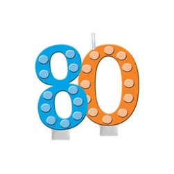 Bright and Bold 80 Candle