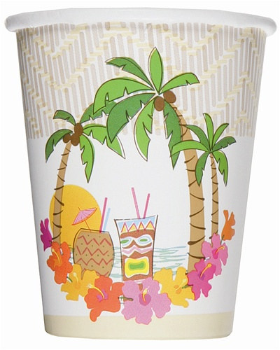 birthday decoration pictures island luau cold cups 14 pkg partycheap 10106