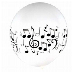 Hit new musical heights with these Musical Note Latex Balloons!