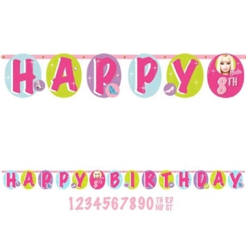 Barbie Birthday Banner from PartyCheap