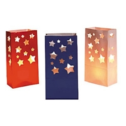 USA Star Paper Luminary Bags