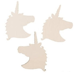 DIY Unfinished Wood Unicorn Shapes - let everyone horn in on the fun at your next unicorn or fantasy themed party