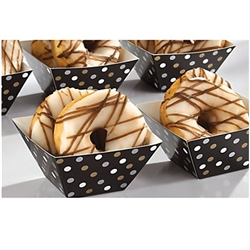 Mini Paper Square Bowls Black