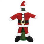 Santa Suit Wine Bottle Covers