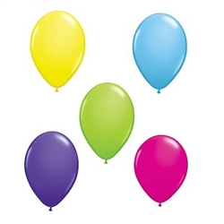 Solid Color Latex Balloons 6 pkg (select color)