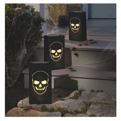 Light the way with a shiver using these Boneyard Luminary Bags