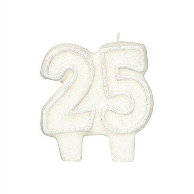 25th Anniversary Candle