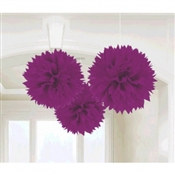 Purple Fluffy Tissue Decoration
