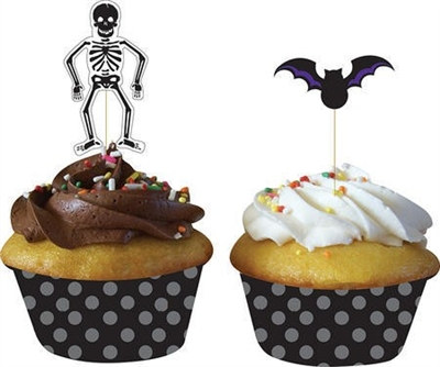 Halloween cupcake wrapper