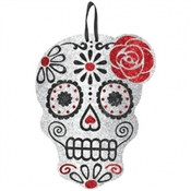 Day of the Dead Glittered Skull