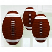 Football Shaped Paper Lanterns (3/pkg)