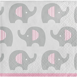 Little Peanut Pink Beverage Napkins