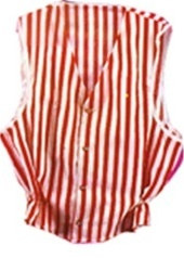 Red nd White Striped Vest