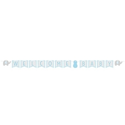 Little Peanut Blue Welcome Baby Banner
