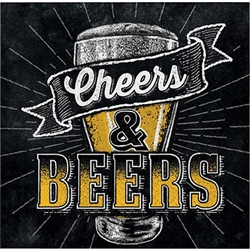 Cheers & Beers Beverage Napkins
