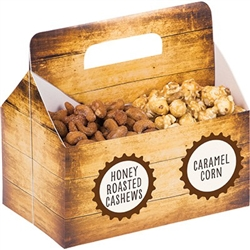 Snack Server Box with Labels