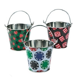 Assorted Metal Casino Pails
