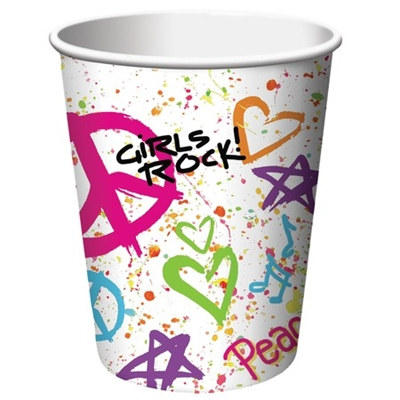 girls rock! hot/cold cups