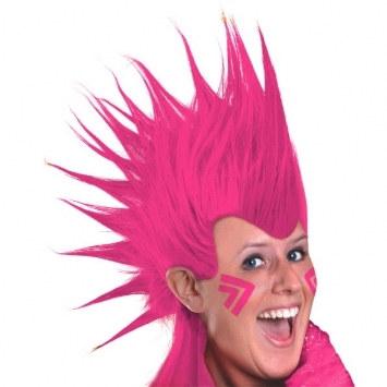 pink mohawk wig