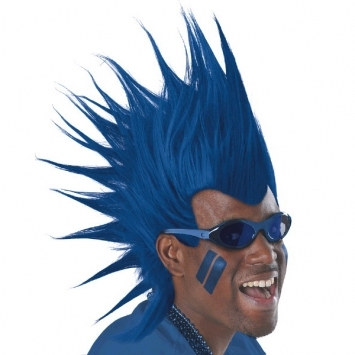 Blue Mohawk Wig Partycheap