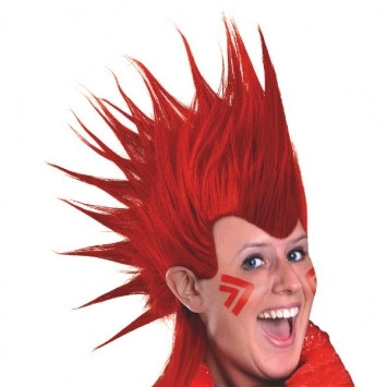 Red Mohawk Wig Partycheap