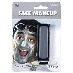 silver face paint