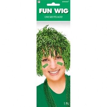green pom pom wig