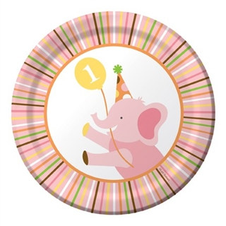 girl sweet at one dessert plates