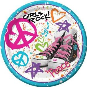 girls rock! dessert plates