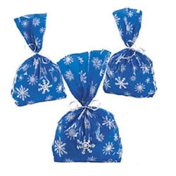 Blue Snowflake Treat Bags