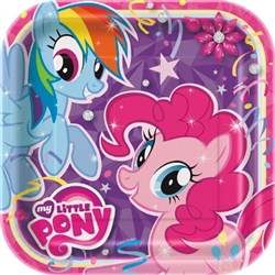 my little pony square plates