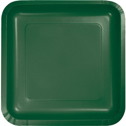 Hunter Green Square Dessert Plates