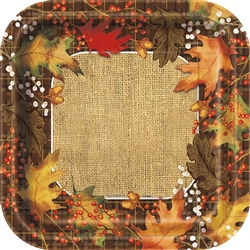 Rustic Autumn Leaves Dinner Plates