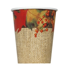 Rustic Autumn Leaves Cup