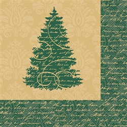 Elegant Christmas Luncheon Napkins