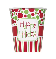 Happy Holidays Cups
