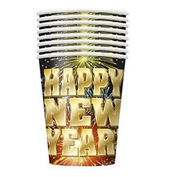 Fireworks New Year Cups