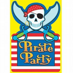 Pirate Invitations (8/pkg)