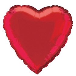 Red Metallic Mylar Heart Balloon