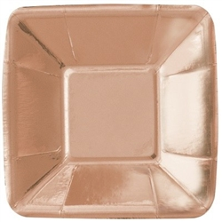 "Appetizer Plates 5"" Rose Gold"
