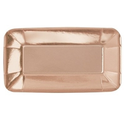 Appetizer Plates REctangle Rose Gold