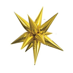 "Gold Jumbo 39"" Star Burst Balloon"