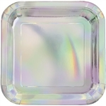 Iridescent Square Dessert Plates - add some shine to your dessert setting