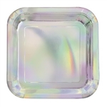 Iridescent Square Luncheon Plates - a sandwich never looked as good on another plate!