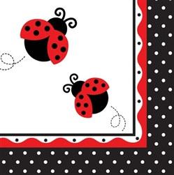 ladybug lunch napkin
